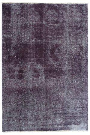 over dyed vintage rug