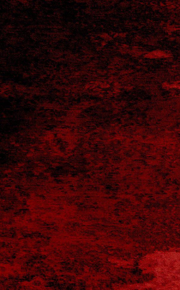 Red - Handtufted silk/wool Rug